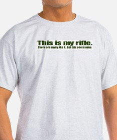This is My Rifle Ash Grey T-Shirt