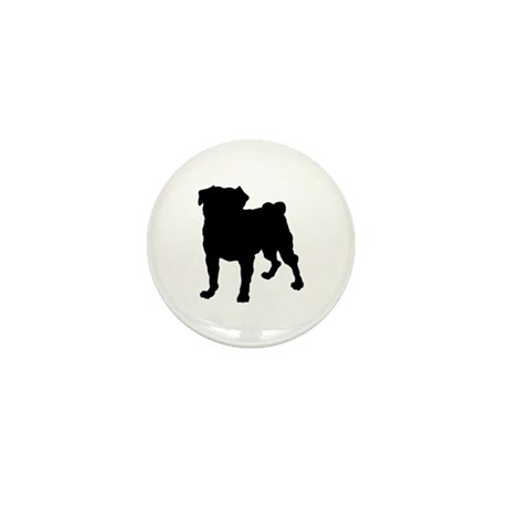 Pug Silhouette Mini Button (10 pack)