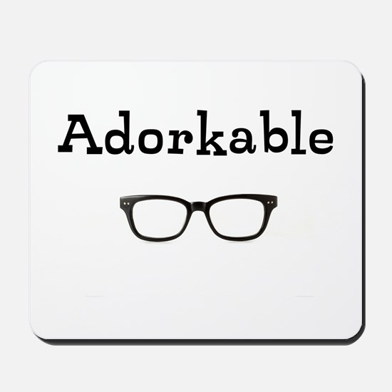 Adorkable - Glasses Mousepad