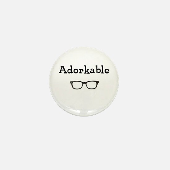Adorkable - Glasses Mini Button