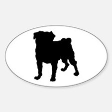 Pug Silhouette Decal