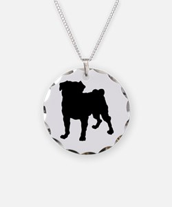 Pug Silhouette Necklace