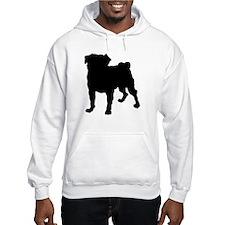 Pug Silhouette Hoodie