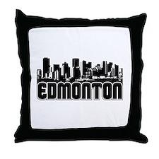 Edmonton Skyline Throw Pillow