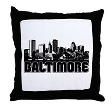 Baltimore Skyline Throw Pillow