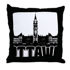 Ottawa Skyline Throw Pillow