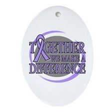 General Cancer Support Ornament (Oval)