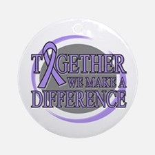 General Cancer Support Ornament (Round)