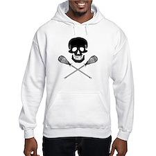Skull and Lacrosse Sticks Hoodie