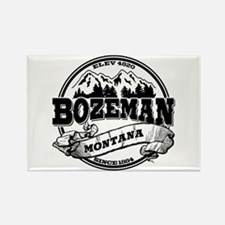 Bozeman Old Circle Rectangle Magnet