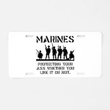 Marines Protect Aluminum License Plate