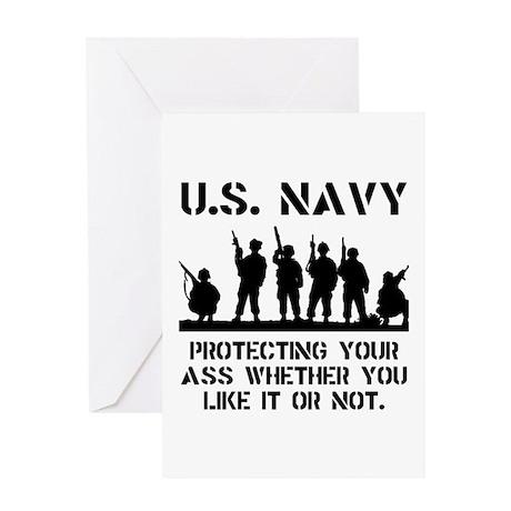 Navy Protect Greeting Card