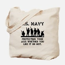 Navy Protect Tote Bag