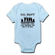 Navy Protect Infant Bodysuit