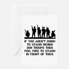 Stand Behind Troops Greeting Card