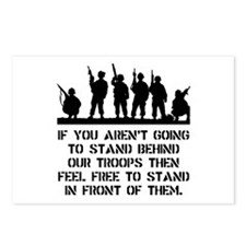 Stand Behind Troops Postcards (Package of 8)