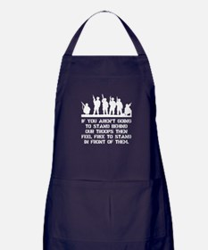 Stand Behind Troops Apron (dark)