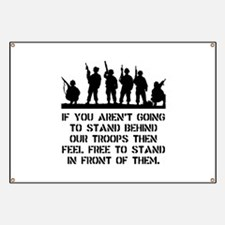 Stand Behind Troops Banner