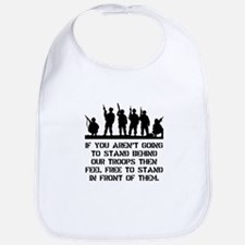 Stand Behind Troops Bib