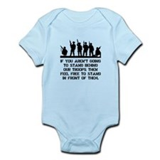 Stand Behind Troops Infant Bodysuit