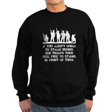 Stand Behind Troops Sweatshirt (dark)