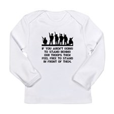 Stand Behind Troops Long Sleeve Infant T-Shirt