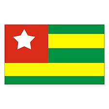 Rasta Gear Shop Togo Flag Rectangle Decal