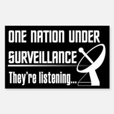 Patriot Act Rectangle Decal