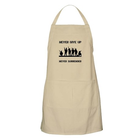 Never Give Up Military Apron