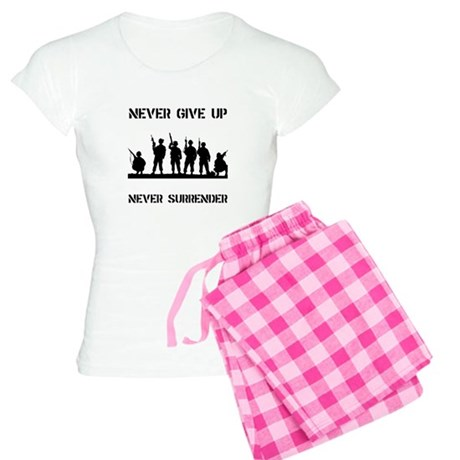 Never Give Up Military Women's Light Pajamas