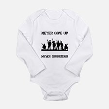Never Give Up Military Long Sleeve Infant Bodysuit