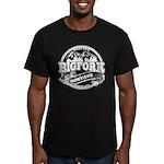 Bigfork Old Circle Men's Fitted T-Shirt (dark)