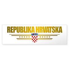 """""""Croatia Pride"""" Bumper Sticker"""