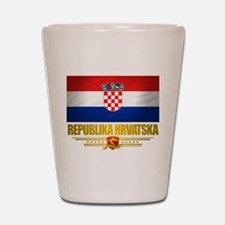 """Croatia Pride"" Shot Glass"