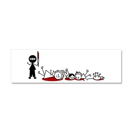 Ninja Stick Figure Massacre (Magnet)