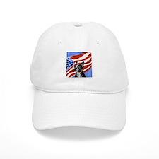 Boston Terrier American Flag Baseball Cap