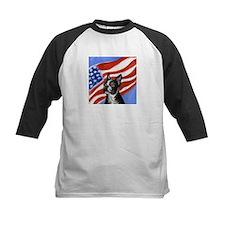Boston Terrier American Flag Tee