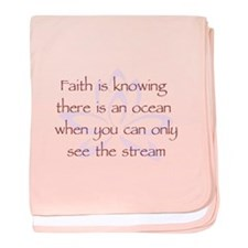 Faith is Knowing V1 baby blanket