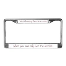 Faith is Knowing V1 License Plate Frame