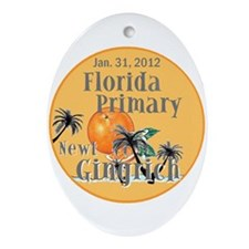 Gingrich Florida Ornament (Oval)