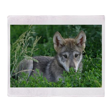 Wolf Pup Throw Blanket