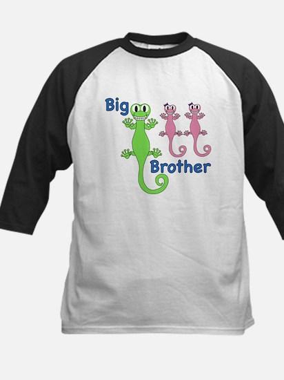 Big Brother of Twin Girls Kids Baseball Jersey