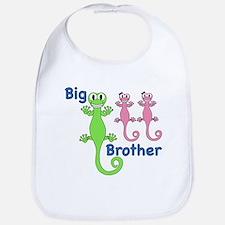 Big Brother of Twin Girls Bib