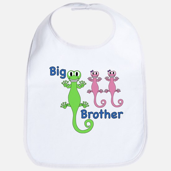 Big Brother of Twin Girls Bib