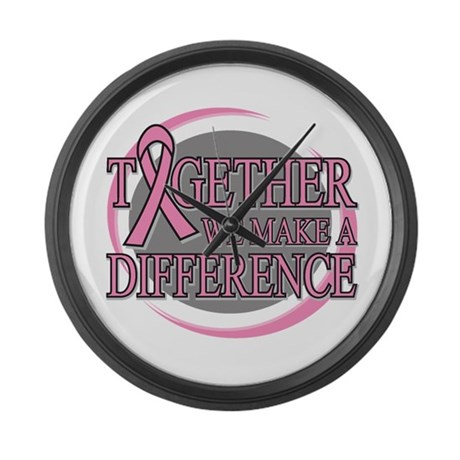 Breast Cancer Support Large Wall Clock