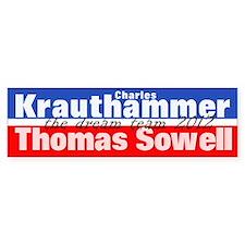 Krauthammer-Sowell Car Sticker