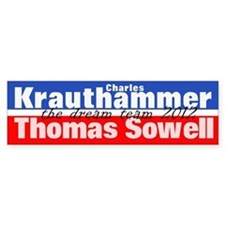 Krauthammer-Sowell Car Sticker