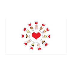 Hearts Around The World 38.5 x 24.5 Wall Peel