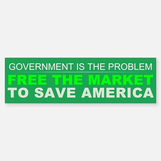 Free The Market Sticker (Bumper)