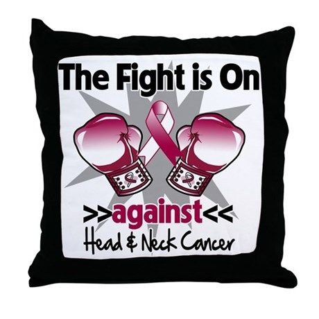 Fight Head Neck Cancer Throw Pillow By Hopeanddreams
